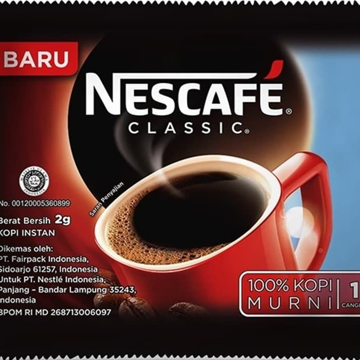 NESCAFE CLAS SAC+BAG 60X2 G