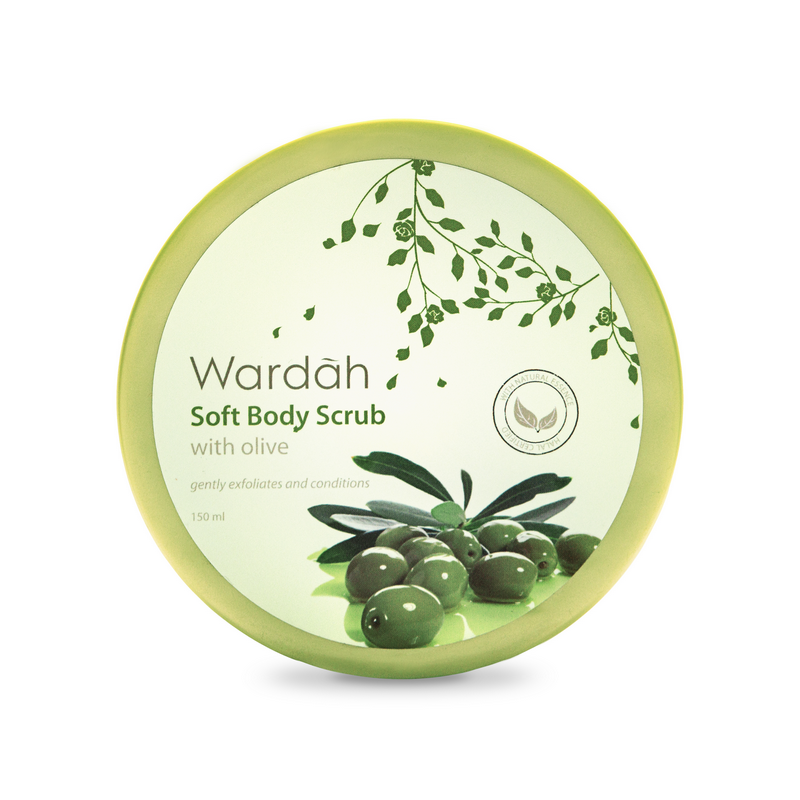 Wardah Soft Body Scrub with Olive 240ml