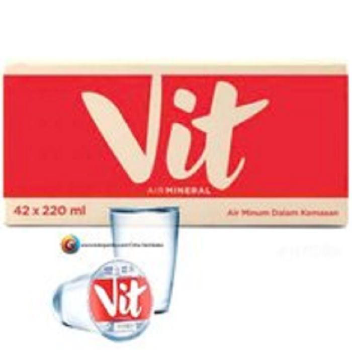 VIT AIR MINUM GELAS 42X220ML
